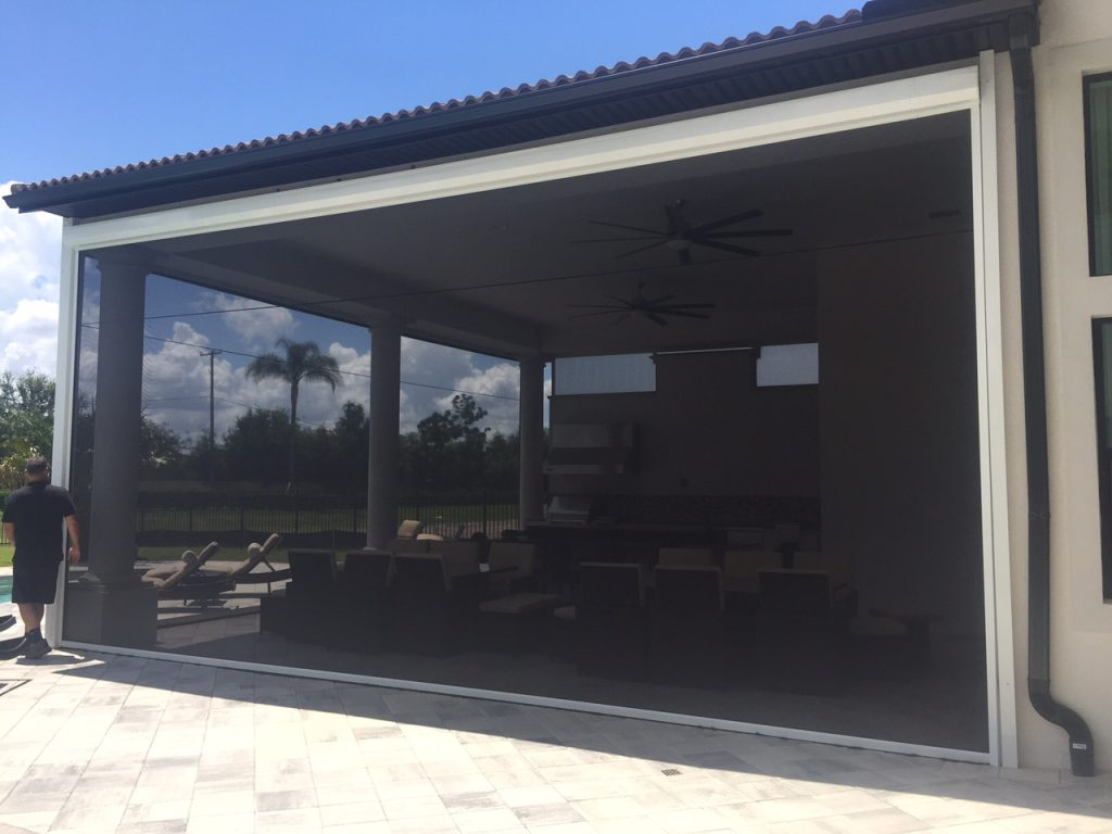 Porch Lanai And Screen Enclosures Motorized Screens